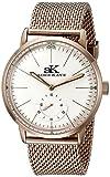 ADEE KAYE AK9044N-MRG - Reloj de pulsera hombre, acero inoxidable, color Oro Rosa