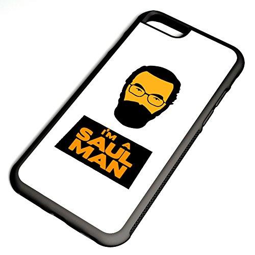 Smartcover Case I´m a Saul Man z.B. für Iphone 5 / 5S, Iphone 6 / 6S, Samsung S6 und S6 EDGE mit griffigem Gummirand und coolem Print, Smartphone Hülle:Samsung S6 EDGE weiss Iphone 6 / 6S schwarz