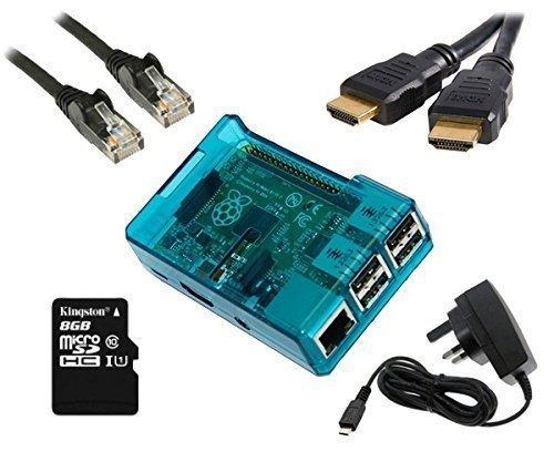 Raspberry Pi Modell B + XBMC Media Center Kit (blau) vorinstalliert OpenELEC Media Center -
