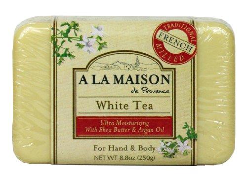 A La Maison Pain de savon ultra-hydratant White Tea - Au thé blanc, à l'huile d'argan et au beurre de karité - 250 g