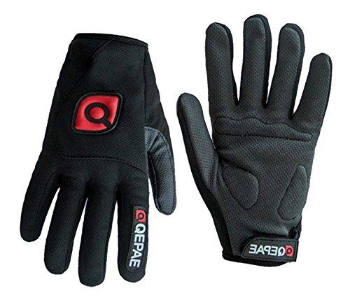QEPAE® Rutschfeste Gel Polster Fahrrad Handschuhe Herren Damen mit dem Klettverschluss geeignet für Fahrrad Reiten Radsport Camping und mehr Sports im Freien