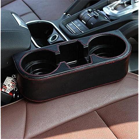 ALUK- Prodotti automobilistici - automotive scatola portaoggetti spazzatura portabicchieri in pelle (21 centimetri * 28cm * 10cm)