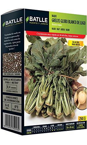 Semillas hortícolas de Batlle - Nabo Globo blanco de Lugo (250g)