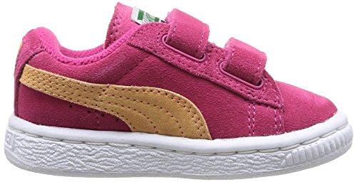 Puma - Scarpe primi passi Suede 2 Straps Kids, Unisex - bambino Rosa (Rose (Purple/Peach))