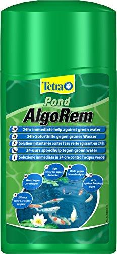Tetra Pond AlgoRem (24-Stunden-Soforthilfe gegen grünes Wasser im Gartenteich), 1 L Flasche