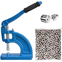 ReaseJoy #2 9.5mm Grommet Punch Machine Press Hand Tool with 600PCS Nickel Eyelet