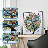 ☺HWTOP Diamant Malerei DIY Sonderform 5D Teilbohrer Kreuzstich Kits Kristall R Special Cross Stitch Shaped Diamond Painting (B)