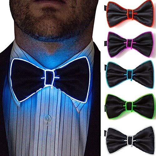 Leuchten Blinkende Leucht LED Krawatte Für Mann Frauen Licht Up Party Bogen Activing Requisiten Weihnachten Geburtstag Lieferungen 11 * 6cm / 4.33 * 2.36in Zufällige Farbe 1pcs