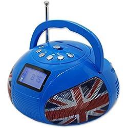 Teknofun - 811163 - Mini Boombox Bluetooth - Bleu