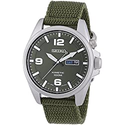 Seiko men's Automatic Watch Analogue Display and fabric Strap SMY141P1