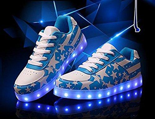 [Present:kleines Handtuch]JUNGLEST® Schwarz 7 Farbe Unisex LED-Beleuchtung Blink USB-Lade Turnschuh-Schuhe c17