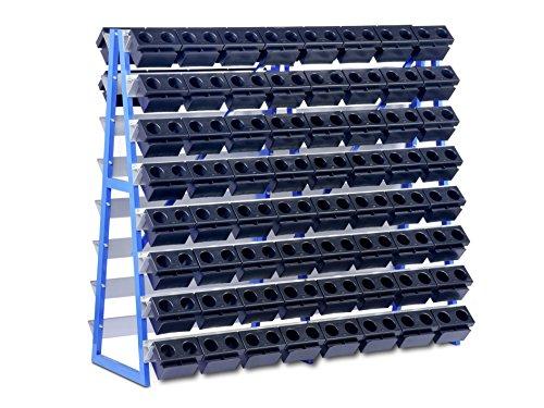 CNC-Lagersystem GK-4025, Regal für CNC-Fräsköpfe und CNC Bohrer Aufbewahrung –beidseitig bestückbar, aus stabilem Stahl, zur Lagerung von CNC Hochpräzisionswerkzeugen