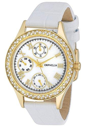 Orphelia - OR22173011 - Montre Femme - Quartz - Analogique - Bracelet cuir Blanc