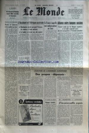 MONDE (LE) [No 10394] du 01/07/1978 - A ...