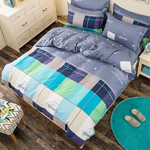 Jwans 100% Polyester Bettbezug mit Kissenbezug Reactive Printing Reversible Tagesdecke Einzel Doppel Bettwäscheset