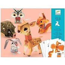 Djeco / Folded Paper Toy Kit, Pretty Woodland Animals, Model: DJ09674, Toys & Gaems