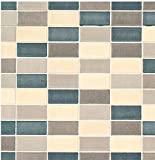 Klebefolie Möbelfolie Dekorfolie Fliese Cetona Beige Mosaik 45 cm x 200 cm selbstklebende Folie - Designfolie