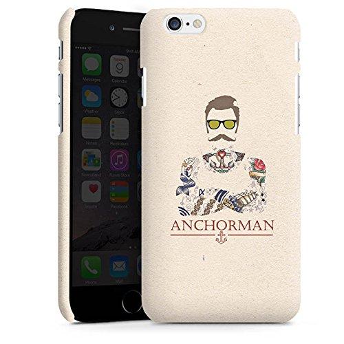 Apple iPhone 6 Plus Silikon Hülle Case Schutzhülle Schnurrbart Anchorman Tattoo Anker Premium Case matt