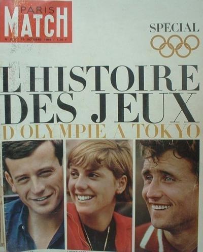 Paris match, n° 810, 17 octobre 1964 : l'histoire des jeux olympiques à tokyo de gaulle en amérique du sud , tout n'a pas été joyeux farran raconte brigitte bardot pasolini par Collectif