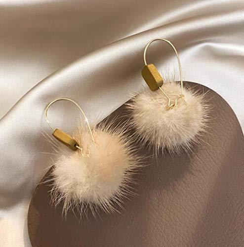 Yyamomo borchie affascinante donna temperamento retrò in legno ciondolo palla pelosa fascino alla moda design unico eleganza squisita bella ragazza cena abito regalo a sorpresa san valentino