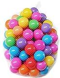Clamaro 100 bunte Bällebad Bälle mit Ø 5,5 cm Ball Durchmesser (7 Farben), schadstofffrei ohne gefährliche Weichmacher, knallbunter Plastikbälle Mix in den Farben Gelb, Rot, Blau, Grün, Lila, Pink und Orange, Kinder Spielbälle aus hochwertigem PP-Kunststoff (Polypropylen)