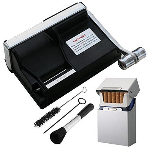 Powermatic 1 Plus Zigarettenstopfmaschine inkl. 1x SEPILO® Alu Zigarettenbox Stopfmaschine der Extraklasse + Zubehör - Powermatic I Zigarettenstopfer / Zigarettenmaschine