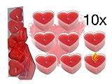 TK Gruppe Timo Klingler 10x Kerzen Hochzeit Liebe Set Deko Dekoration für Sie und Ihn für Geschenke mit Kerzen Teelicht Herzkerze Herz Herzform Herz (Kerzen Herz)