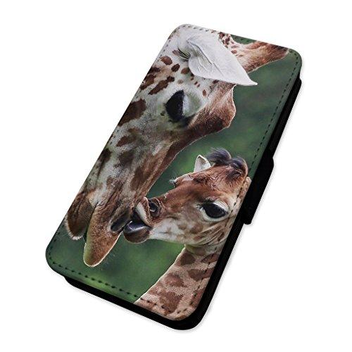 Liebenswürdig, Giraffe & Kalb–Flip Case Wallet Cover Card Holder Apple Iphone 5/5s/SE (Kalb-taste)