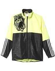 adidas YB LR T X TS - Chándal para hombre, color negro / amarillo / blanco