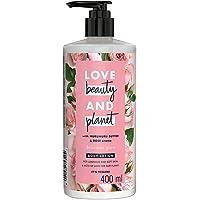 Love Beauty & Planet Natural Murumuru Butter & Rose Glow Body Lotion, 24hr Moisturization, Non-Sticky, Paraben Free, 400…