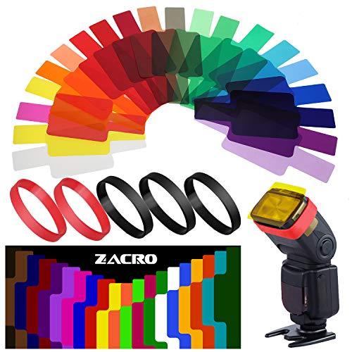 Zacro 20 Stück Farbe Correction Filter für Kamera Speedlite und Geeignet für Anfänger mit Anweisungen