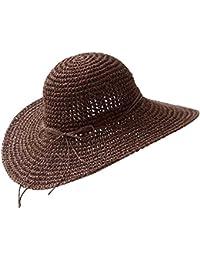 Bornbayb Cappello di paglia floscio Cappello largo a tesa larga Cappuccio pieghevole  di cappello estivo da spiaggia… 8a3c69786390