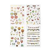 Leisial 4 Seiten Mädchen Aufkleber Reiseaufkleber Notebook Tagebuch Aufkleber DIY Album Aufkleber Mädchen Scrapbooking Sticker 14 * 19CM 1