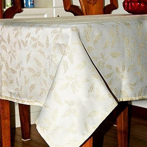 Polyester Weihnachten Tischdecke Gold Line weißen Tischtuch rechteckig Weihnachten Abdeckung Para Mesa Bugaboo Manteles Navidad, 70 x 70