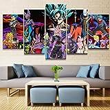 OLMITA Wandmalerei, Dragon Ball Familie Dekoration Bildleinwand Malerei, Kinder Poster Wand Zum Hause Wohnzimmer Büro Modern, Dekoration, Geschenk (Kein Feld),C