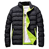Best Warmest Winter Coats - Men's Short Parka Winter Outwear Loose Padded Down Review