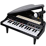 ANTAPRCIS 31 Keys Piano Keyboard Toys - Musical Learning Toy Set with Microphone