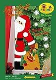 Fischer Fensterbild BESUCH VOM WEIHNACHTSMANN / Bastelpackung mit ENGLISCHER ANLEITUNG / Größe: ca. 35x75 cm / zum Selberbasteln / Basteln zu Weihnachten aus Papier und Pappe