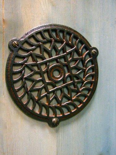 Antikas - chimenea rejilla de aire caliente - cercas de aire caliente redonda ventilación chimeneas (10,5 cm)