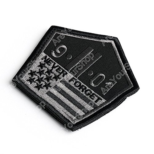 Tradico® September 11 Attacks 9/11 Anniversary Tactical Morale Patches Black & Gray Bs5
