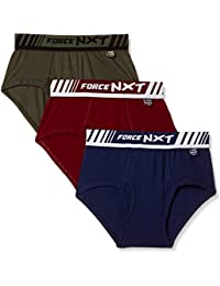Force NXT Men's Solid Brief (Pack of 3)