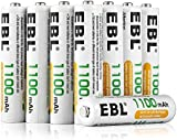 EBL AAA 1100mAh Ni-MH Rechargeable Batteries, 8 Pack AAA Batteries with Storage Cases