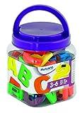 Miniland 97922 - Jumbo-Buchstaben magnetisch/ Behälter 62 Teile.