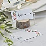 Ginger Ray Floral Luggage Tags/Gift Tags X 10 - Boho