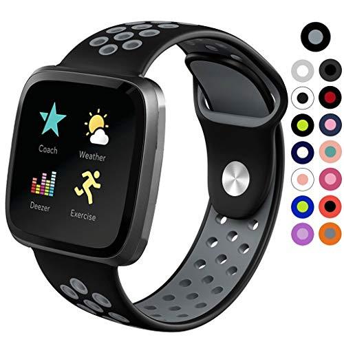 VICKY-HOHO kleine Silikon Ersatz Uhr Armband Armband für Fitbit Versa Lite -