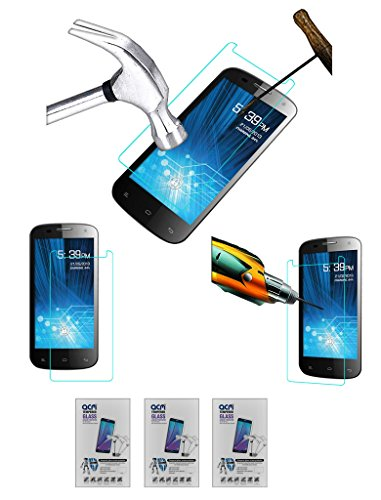 Acm Pack of 3 Tempered Glass Screenguard for Spice Mi-491 Stellar Virtuoso Pro Screen Guard Scratch Protector  available at amazon for Rs.279