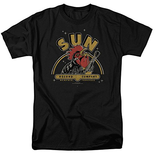 Greucy-darkSun Records Company Rocking Rooster Classic Music Adult T-Shirt Tee
