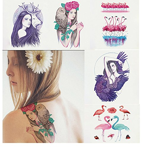 Pinkiou adesivi per tatuaggi temporanei falsi per la pelle