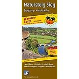 Natursteig Sieg, Siegburg - Windeck-Au: Leporello Wanderkarte mit Ausflugszielen, Einkehr- & Freizeittipps, wetterfest, reißfest, abwischbar, GPS-genau. 1:25000