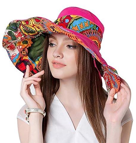 Witery Women Summer Sun Hat, Rose